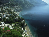 An Aerial View of Hillside Villages on the Water at Positano Photographic Print by Ed George