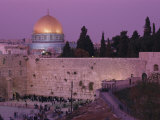 Western Wall with the Dome of the Rock in the Background Photographic Print by Richard Nowitz