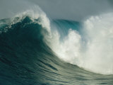 A Powerful Wave, or Jaws, off the North Shore of Maui Island Fotografisk tryk af Patrick McFeeley