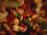 A Time Exposure Makes a Sweet Blur of Colorful Dime Store Candy Photographic Print by Stephen St. John