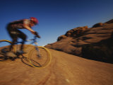 Slickrock Mountain Biking, Moab, Utah Photographic Print by Mark Cosslett