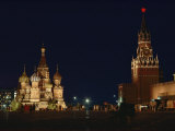 Red Square at Night Photographic Print by Dean Conger