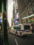 View of a New York City Bus from a Window of a Bus Photographic Print by Gina Martin