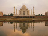 A View of the Taj Mahal Reflected in the Yamuna River Photographic Print by Bill Ellzey