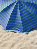 A View from Above of a Beach Umbrella Photographic Print by Todd Gipstein