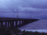 The Chesapeake Bay Bridge-Tunnel at Night Photographic Print by Medford Taylor
