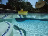 A Backyard Swimming Pool in San Diego Photographic Print by Tim Laman