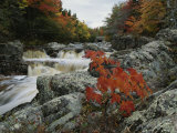 A Creek Rushes Past Autumn-Colored Trees Photographic Print by Raymond Gehman