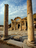 The Remains of Hadrians Gate at Ephesus Photographic Print by Gordon Gahan