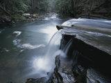 A Waterfall on Big Fiery Gizzard Creek Swirls into a Pool Photographic Print by Stephen Alvarez