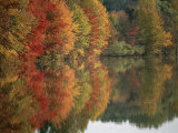 Fall Foliage Around Churchill Lake is Reflected in the Still Water Photographic Print by Brian Gordon Green