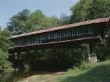A Covered Bridge in Rural Alabama Photographic Print by Medford Taylor