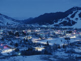 A View of Jackson, Wyoming at Dusk Photographic Print by Raymond Gehman