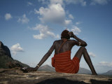 A Samburu Goatherd Takes a Break on the Top of a Hill Photographic Print by Bobby Model