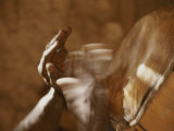 Dogon Hands, Blurred by the Quick Movement of Playing the Drums Fotografie-Druck von Bobby Model