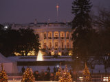 White House, from Elipse at Christmas Photographic Print by Richard Nowitz