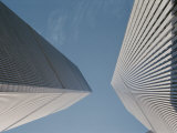 Dizzying View Looking Straight up at Both of the World Trade Centers Photographic Print by Stacy Gold
