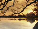 View of the Jefferson Memorial at Twilight Fotografisk tryk af Richard Nowitz