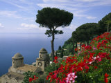 Scenic View of Villa Rufolo Terrace Gardens and Wagner Terrace Photographic Print by Richard Nowitz