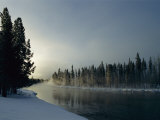 A Winter View of the Yellowstone River at Sunset Photographic Print by Norbert Rosing