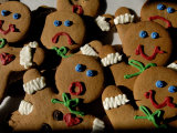 Gingerbread Cookies Display Different Facial Expressions Photographic Print by Joel Sartore