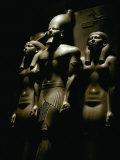 Statue of Pharaoh Menkaura, Found at Giza Fotografisk tryk af Kenneth Garrett