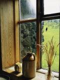 Windowsill of the Skogar Folk Museum in the Southern Part of Iceland Fotografisk tryk af Sisse Brimberg