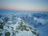 An Aerial View of the Bavarian Alps Photographic Print by Peter Carsten