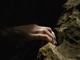 A Close View of a Climbers Hand Utilizing a Natural Hold Photographic Print by Bobby Model
