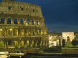 Romes Colosseum Illuminated at Night Photographic Print by Richard Nowitz