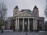 The National Theater in Sofia, Bulgaria, the Motto on the Facade Reads Union Makes Strength Photographic Print by Raul Touzon