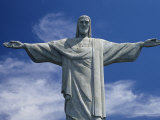 The Towering Statue of Christ the Redeemer, Or Christo Redentor Fotografisk tryk af Richard Nowitz