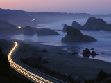 An Evening View of Highway 101 South of Gold Beach Photographic Print by Phil Schermeister