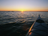 Kayak Sits in the Marsh Around Carrot Island Before Sunset Photographic Print by Stephen Alvarez