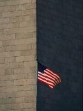 One of the American Flags Surrounding the Monument Photographic Print by Kenneth Garrett