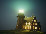 Lighthouse on Block Island Photographic Print by Michael Nichols
