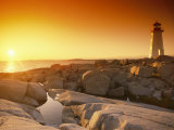 A Lighthouse at Sunset Photographic Print by Richard Nowitz