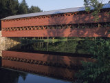 The Sachs Mill Bridge is Reflected in the Marsh River Photographic Print by Raymond Gehman