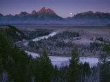 L'aurora illumina l'alta cresta del Teton Range Stampa fotografica di Gehman, Raymond