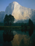 The Sunlit Face of El Capitan is Reflected in the Merced River Photographic Print by Phil Schermeister