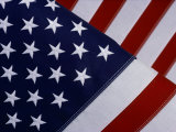A Close-up of the Stars and Stripes of an American Flag Fotoprint van Todd Gipstein