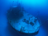 Overhead View of a Shipwreck on the Seafloor Photographic Print by Nick Caloyianis