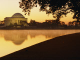 Twilight View of the Jefferson Memorial and the Tidal Basin Photographic Print by Kenneth Garrett