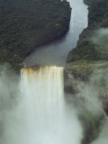 An Aerial View of Kaitur Falls, in Guyana Photographic Print by Bill Curtsinger