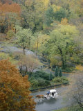 Aerial View of a Horse-Drawn Carriage in Central Park Photographic Print by Jodi Cobb