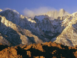 Snow Blows from the Slopes of Mount Whitney Photographic Print by Phil Schermeister