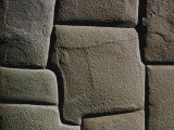 Close-up of a Stone Wall Created by the Incas Photographic Print by Bates Littlehales