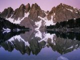 Kearsarge Lake Reflects the Nearby Kearsarge Pinnacles in This Scenic View Photographic Print by Phil Schermeister