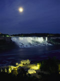 American Side of Niagara Falls, Seen at Night from Niagara Oaks Garden Photographic Print by Richard Nowitz