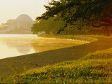 Hazy Shot of the Tidal Basin at Potomac Park Photographic Print by Kenneth Garrett